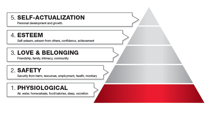 maslows hierarchy of needs physiological