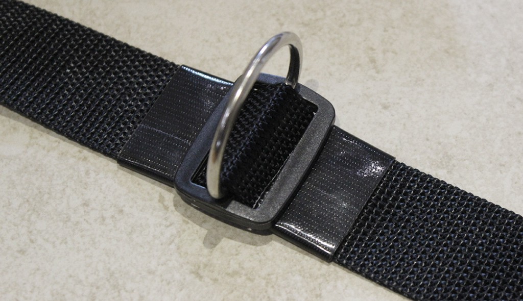 Belt Attachment with Acetal Black Slider, Stainless Steel D-Ring and Gorillia Tape Duck Tape