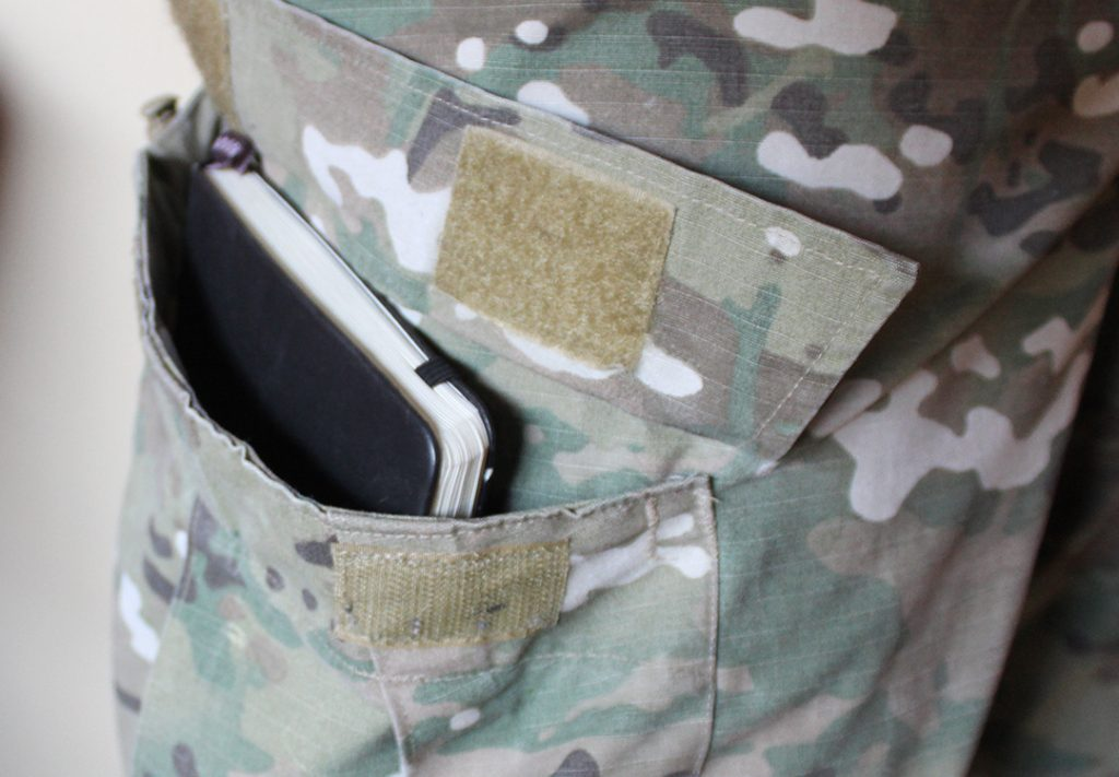 Moleskin Journal fits perfect in a Propper cargo pocket