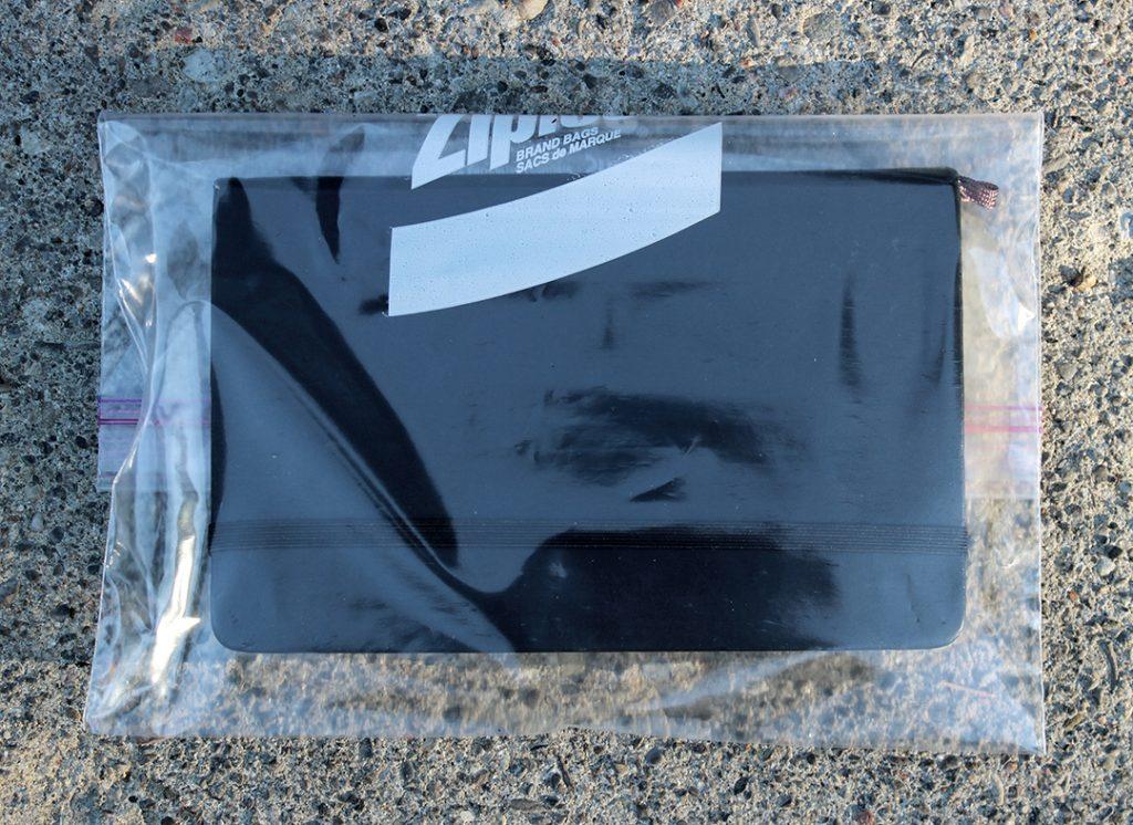 Journal in a waterproof Ziplock Freezer Bag